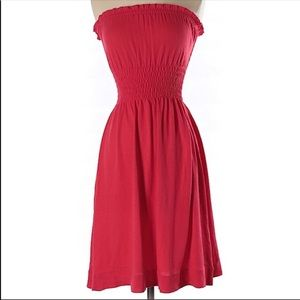 Free People Red Strapless Dress Size X Small NWT